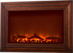 Fire Sense - Wall-Mounted Electric Fireplace - Wood