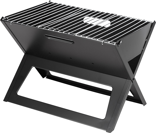 Fire Sense - Notebook Charcoal Grill - Black