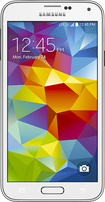 Boost Mobile - Samsung Galaxy S 5 4G No-Contract Cell Phone - White