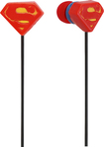 iHip - Superman Earbud Headphones - Red/Black/Yellow