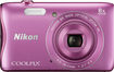 Nikon - Coolpix S3700 20.1-Megapixel Digital Camera - Pink