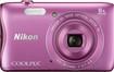 Nikon - Coolpix S3700 20.1-Megapixel Digital Camera - Pink