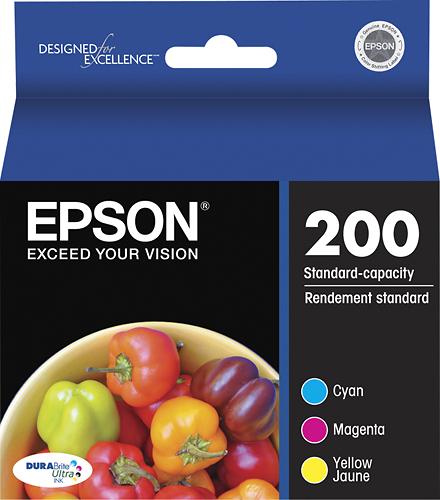 Epson - 200 3-Pack Ink Cartridges - Cyan/Magenta/Yellow