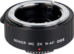 Bower - DGII Digital Autofocus 2x Teleconverter Lens for Nikon DSLR Cameras - Black