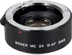 Bower - DGII Digital Autofocus 2x Teleconverter Lens for Sony Alpha and Minolta Maxxum DSLR Cameras - Black