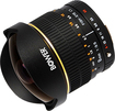 Bower - 8mm f/3.5 Ultra-Wide Fish-Eye Lens for Select Sony and Minolta DSLR Cameras - Black