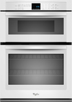 """Whirlpool - 27"""" Single Electric Wall Oven with Built-In Microwave - White"""