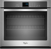 "Whirlpool - 27"" Built-In Single Electric Wall Oven - Stainless-Steel"