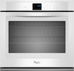 "Whirlpool - 27"" Built-In Single Electric Wall Oven - White"