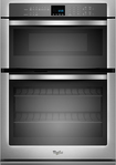 """Whirlpool - 27"""" Single Electric Wall Oven with Built-In Microwave - Stainless-Steel"""