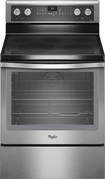 "Whirlpool - 30"" Self-Cleaning Freestanding Electric Convection Range - Stainless-Steel"