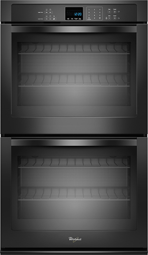 Whirlpool - 30 Built-In Double Electric Wall Oven - Black