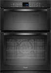 "Whirlpool - 30"" Single Electric Convection Wall Oven with Built-In Microwave - Black"