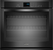 "Whirlpool - 27"" Built-In Single Electric Wall Oven - Black"