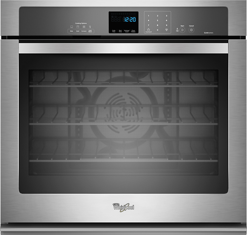 Whirlpool - 27 Built-In Single Electric Convection Wall Oven - Stainless Steel