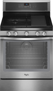 "Whirlpool - 30"" Self-Cleaning Freestanding Gas Convection Range - Stainless-Steel"