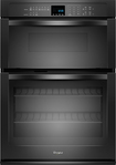 """Whirlpool - 27"""" Single Electric Wall Oven with Built-In Microwave - Black"""