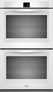 """Whirlpool - 30"""" Built-In Double Electric Wall Oven - White"""