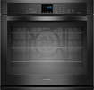 "Whirlpool - 30"" Built-In Single Electric Convection Wall Oven - Black"