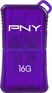 PNY - Micro Sleek Attaché 16GB USB Flash Drive - Purple