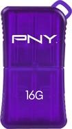 PNY - Micro Sleek Attaché 16GB USB Flash Drive - Purple