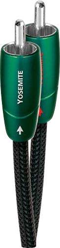 AudioQuest - Yosemite 3.3' RCA-to-RCA Cable - Black/Green