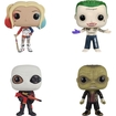 Funko - Suicide Squad: Pop! Movie Collectors Set: Harley Quinn, Joker Shirtless, Deadshot(masked) & Killer Croc - Multi 5578700