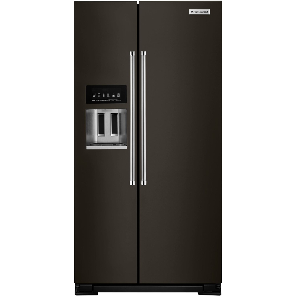 KitchenAid   22.6 Cu. Ft. Side By Side Counter Depth Refrigerator   Black Stainless  Steel At Pacific Sales