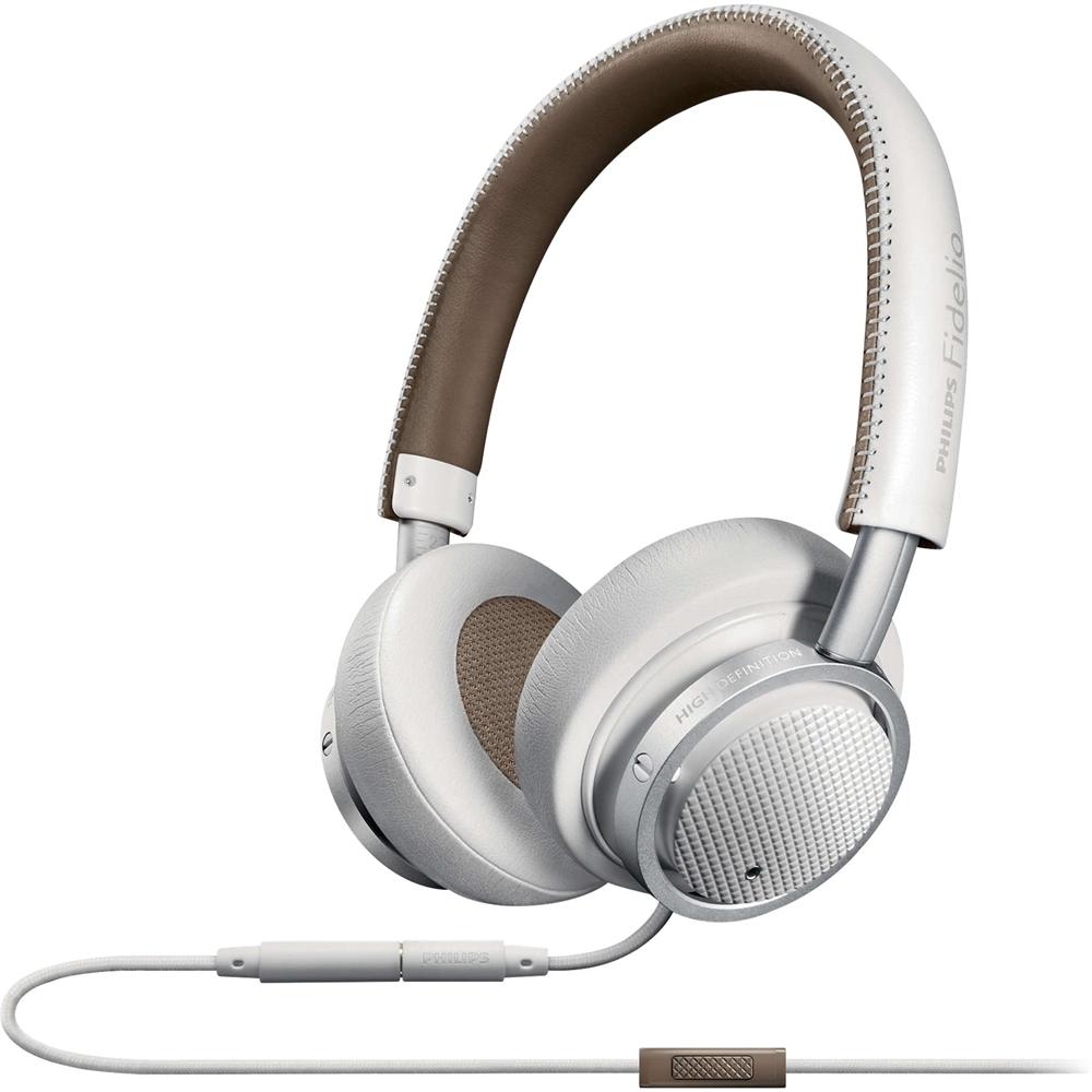 Philips - Fidelio On-ear Headphones - White