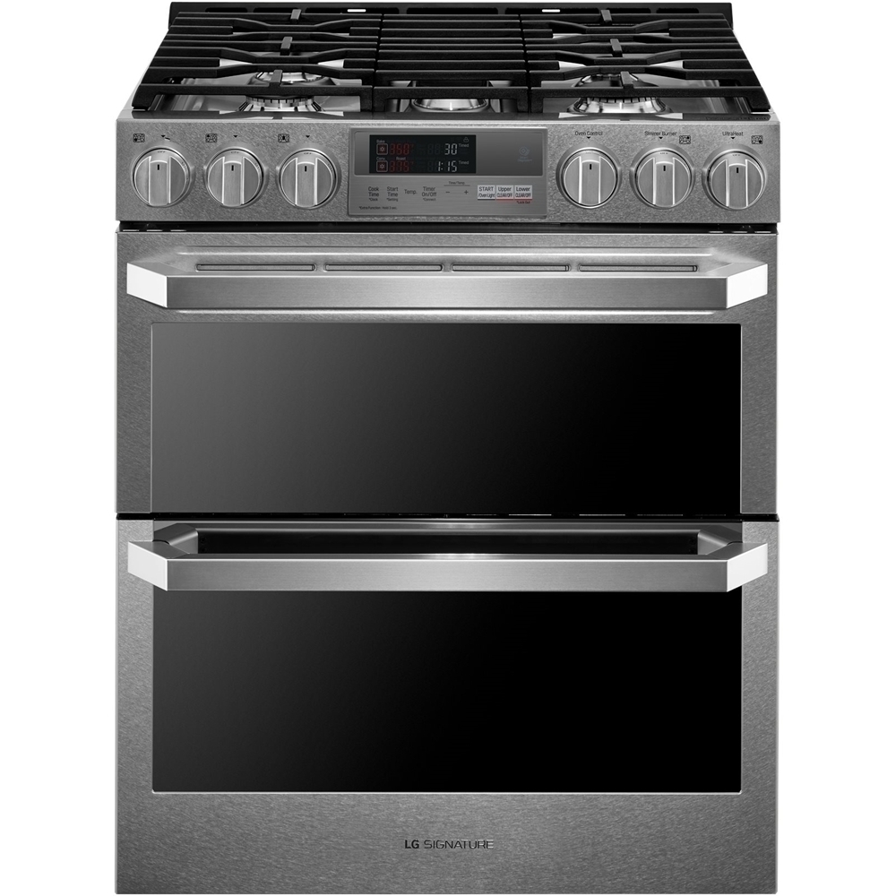 Lg Signature 73 Cu Ft Self Cleaning Slide In Double Oven Dual