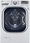LG - 4.5 Cu. Ft. 14-Cycle Ultralarge-Capacity High-Efficiency Steam Front-Loading Washer - White