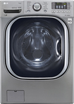 LG - 4.5 Cu. Ft. 14-Cycle Ultralarge-Capacity High-Efficiency Steam Front-Loading Washer - Graphite Steel