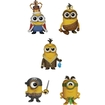 Funko - Minions Pop! Movie Vinyl Collectors Set: Minion King, Cro-minion, Bored Silly Kevin, Eye Matie, Au Naturel - Multi 5580048