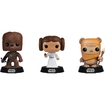 Funko - Star Wars Pop! Vinyl Collectors Set: Chewbacca, Princess Leia, Wicket - Multi 5580065