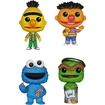 Funko - Sesame Street Pop! Tv Vinyl Collectors Set: Bert, Ernie, Cookie Monster, Oscar The Grouch - Multi 5580066