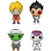 Funko - Dragonball Z Pop! Anime Vinyl Collectors Set: Super Saiyan Goku, Vegeta, Piccolo, Final Form Frieza - Multi 5580068