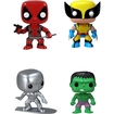 Funko - Marvel Select Pop! Vinyl Bobble-head Collectors Set: Deadpool, Silver Surfer, Wolverine And Hulk - Multi 5580071