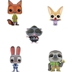 Funko - Zootopia Pop! Disney Vinyl Collectors Set: Nick Wilde, Judy Hopps, Finnick, Mr. Big And Flash - Multi 5580248