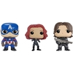 Funko - Captain America: Civil War Pop! Marvel Collectors Set: Captain America, Black Widow And Winter Soldier - Multi 5580256