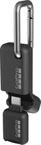 Gopro - Quik Key Micro-usb Mobile Microsd Card Reader - Blac