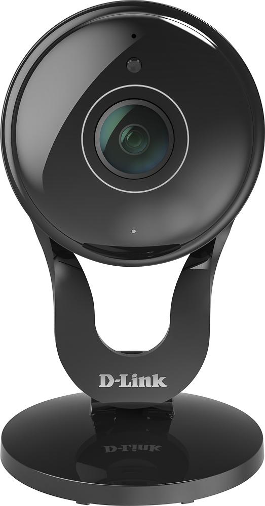 D-link - Wide Lens Indoor Wi-fi Security Camera - Black 5581508