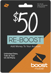 Boost Mobile - Re-boost $50 Prepaid Phone Card