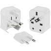 Kanex - Travel Bud Universal 3-in-1 Ac Wall Adapter - White 5586853