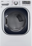 LG - 7.4 Cu. Ft. 14-Cycle Ultralarge-Capacity Steam Electric Dryer - White