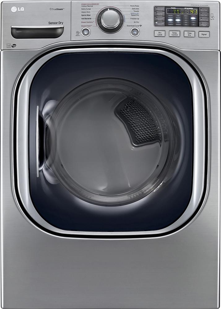 LG - 7.4 Cu. Ft. 14-Cycle Ultralarge-Capacity Steam Gas Dryer - Graphite Steel