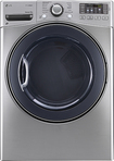 LG - TrueSteam 7.4 Cu. Ft. 12-Cycle Ultralarge-Capacity Steam Electric Dryer - Graphite Steel