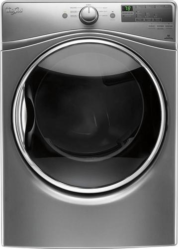 Whirlpool - 7.4 Cu. Ft. 8-Cycle Electric Dryer with Steam - Chrome shadow