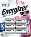 Energizer - Cr123 Batteries (6-pack) - Silver