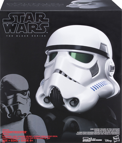 Hasbro - Star Wars The Black Series Imperial Stormtrooper Electronic Voice Changer Helmet - Black
