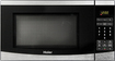 Haier - 0.7 Cu. Ft. Compact Microwave - Black and Brushed Stainless Steel